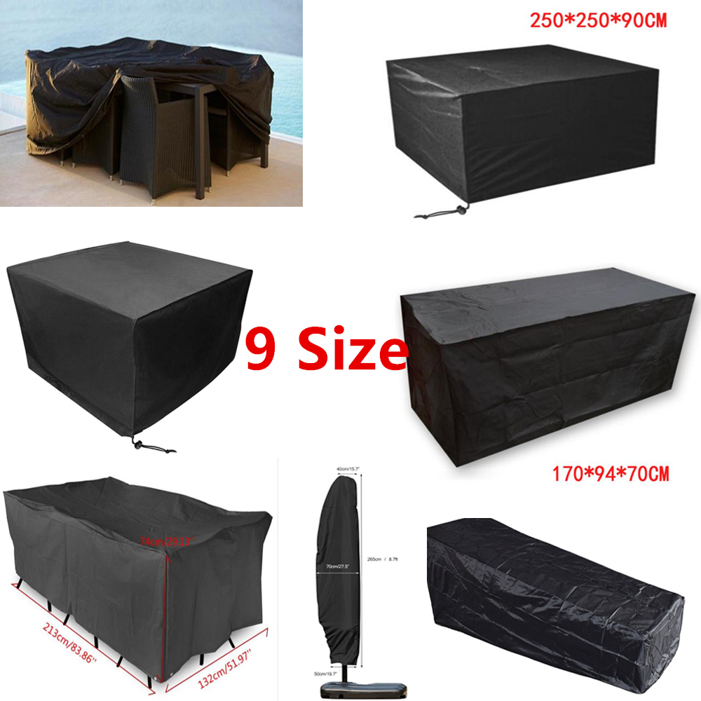 Waterproof Garden Patio Furniture Cover For Protect Table