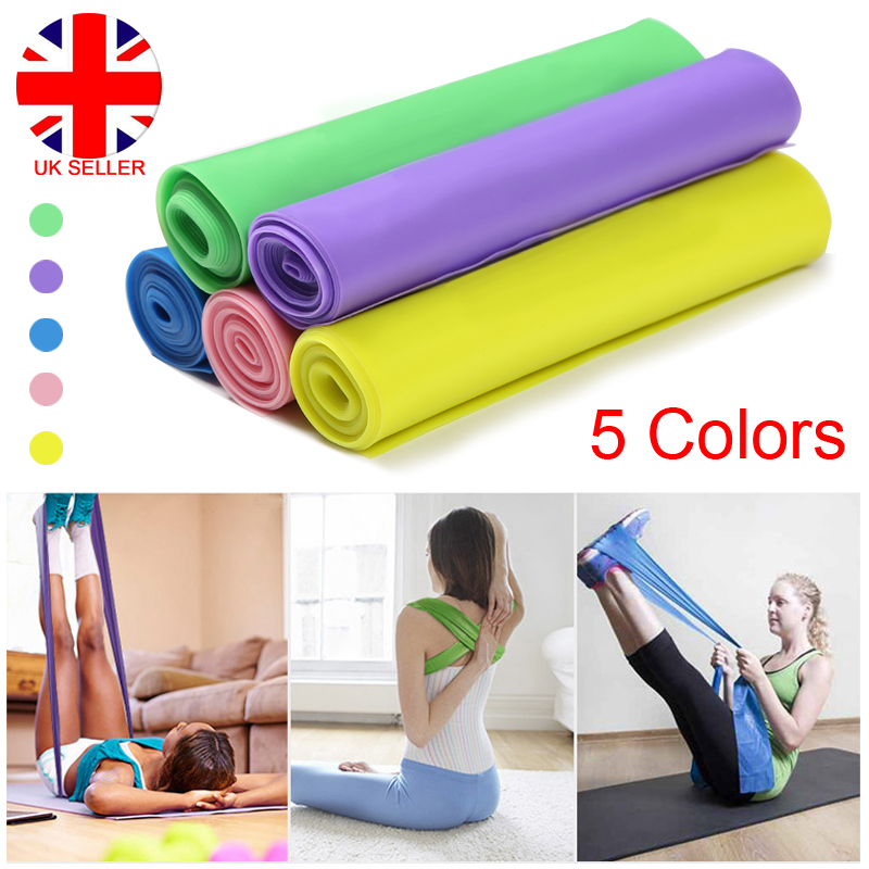 UK Elastic Resistance Bands Exercise Gym NHS Pilates