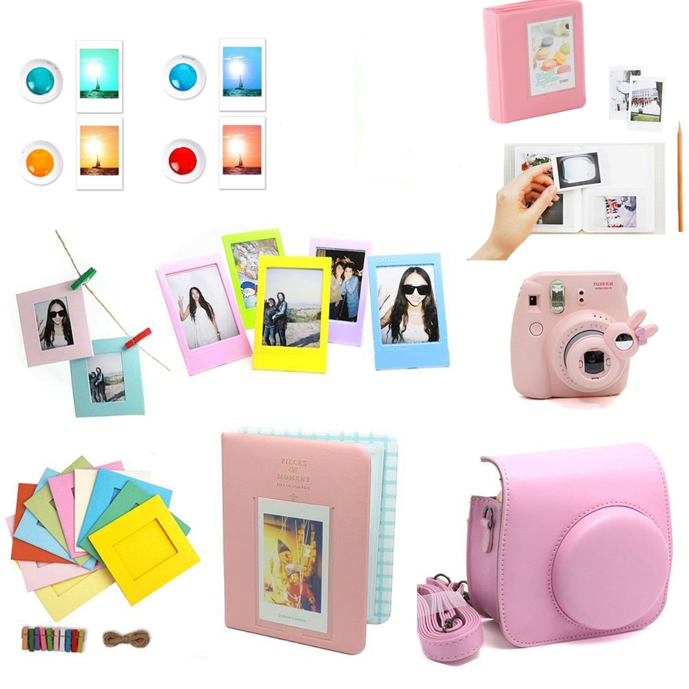 7in1 Instant Camera Accessory Bundles Kit for Fujifilm Instax Mini 8/&9 Pink Xmas