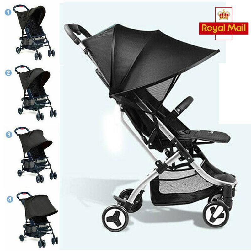 Royaume-Uni Sun Parasol Kid Baby Buggy Poussette landau Poussette Shade Canopy Cover