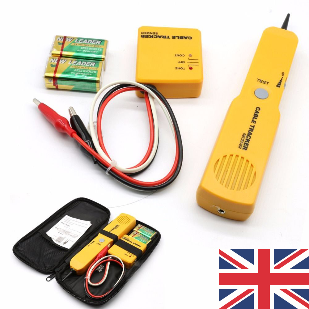 CABLE FINDER TONE GENERATOR PROBE TRACKER WIRE NETWORK TESTER TRACER ...