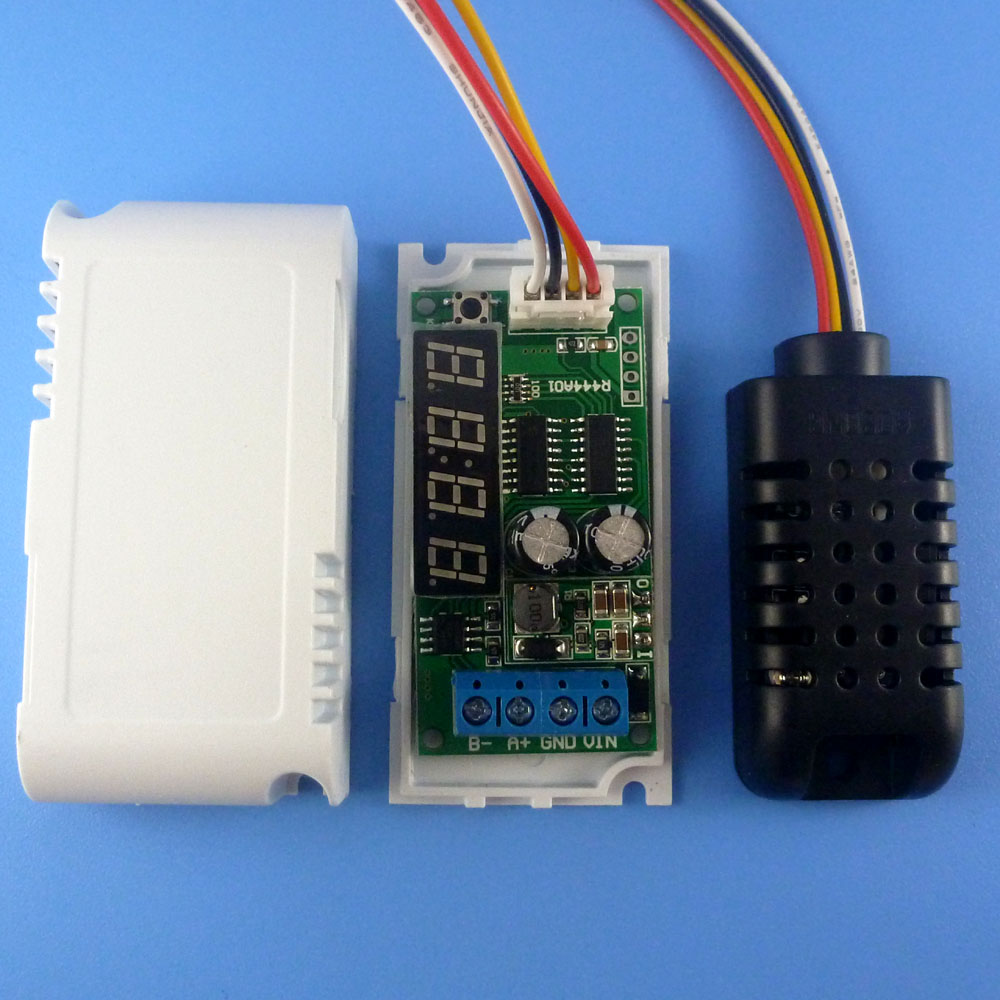Led Temperature Humidity Sensor Module Rs485 Modbus Rtu Repl Ds18b20 Wiring Sht10 Sht11