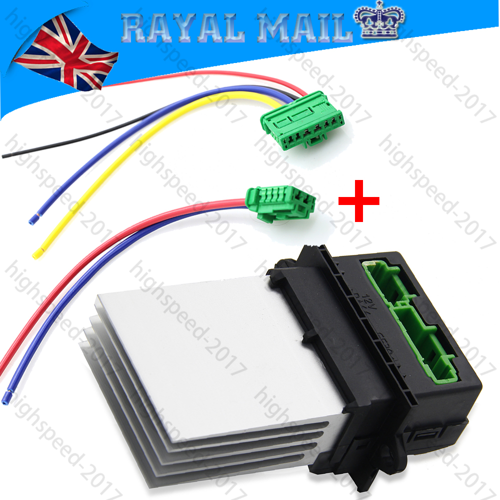 Heater Resistor 2 Plug Wiring Harness Repair Loom For Citroen Renault Peugeot