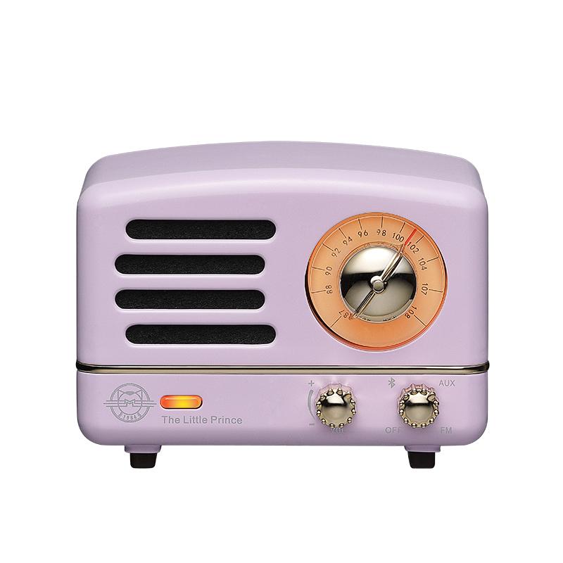 Muzen Raido Mini Speaker Radio Little Prince Vintage style Bluetooth V4.0 Black