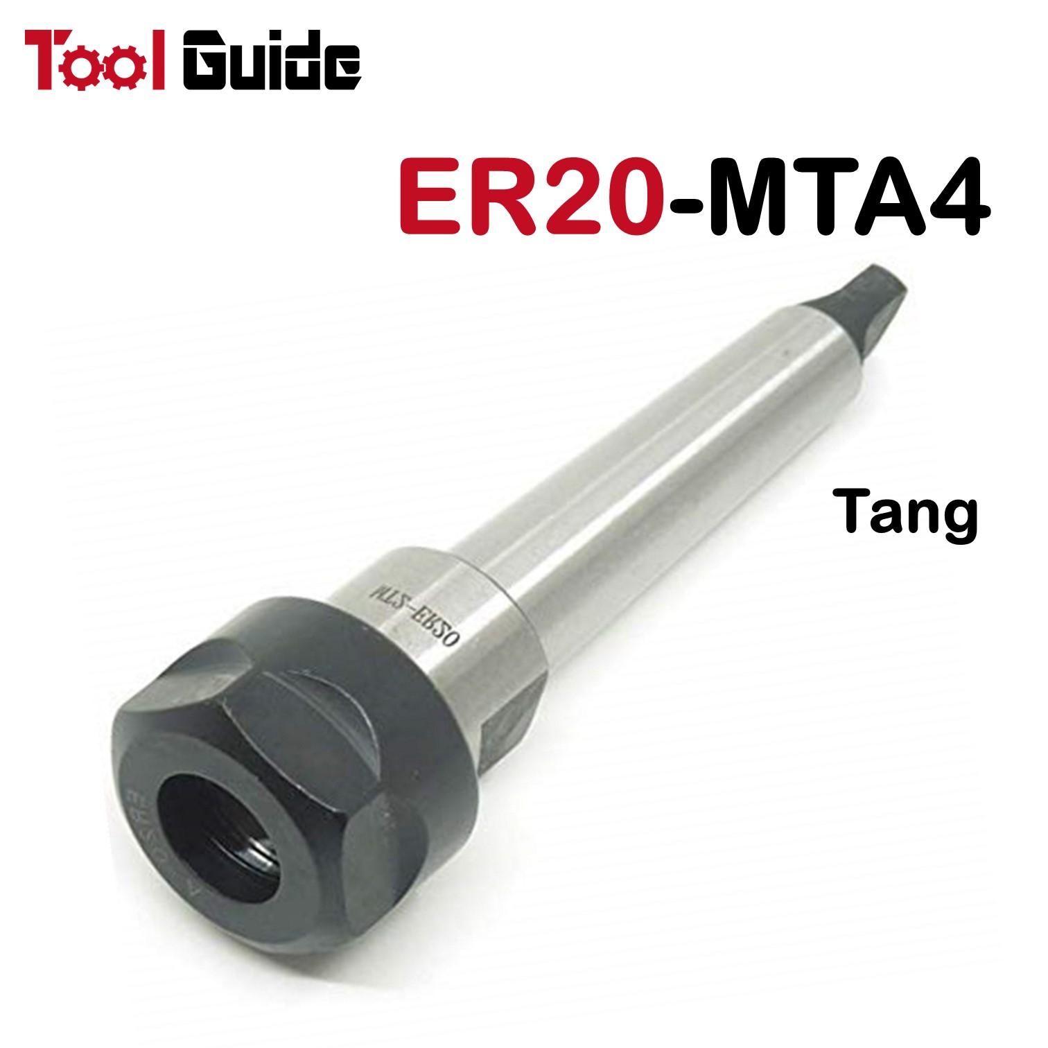ER20 Collet Chuck 20mm x200mm Straight Shank Extension Milling Holder Deep Drill