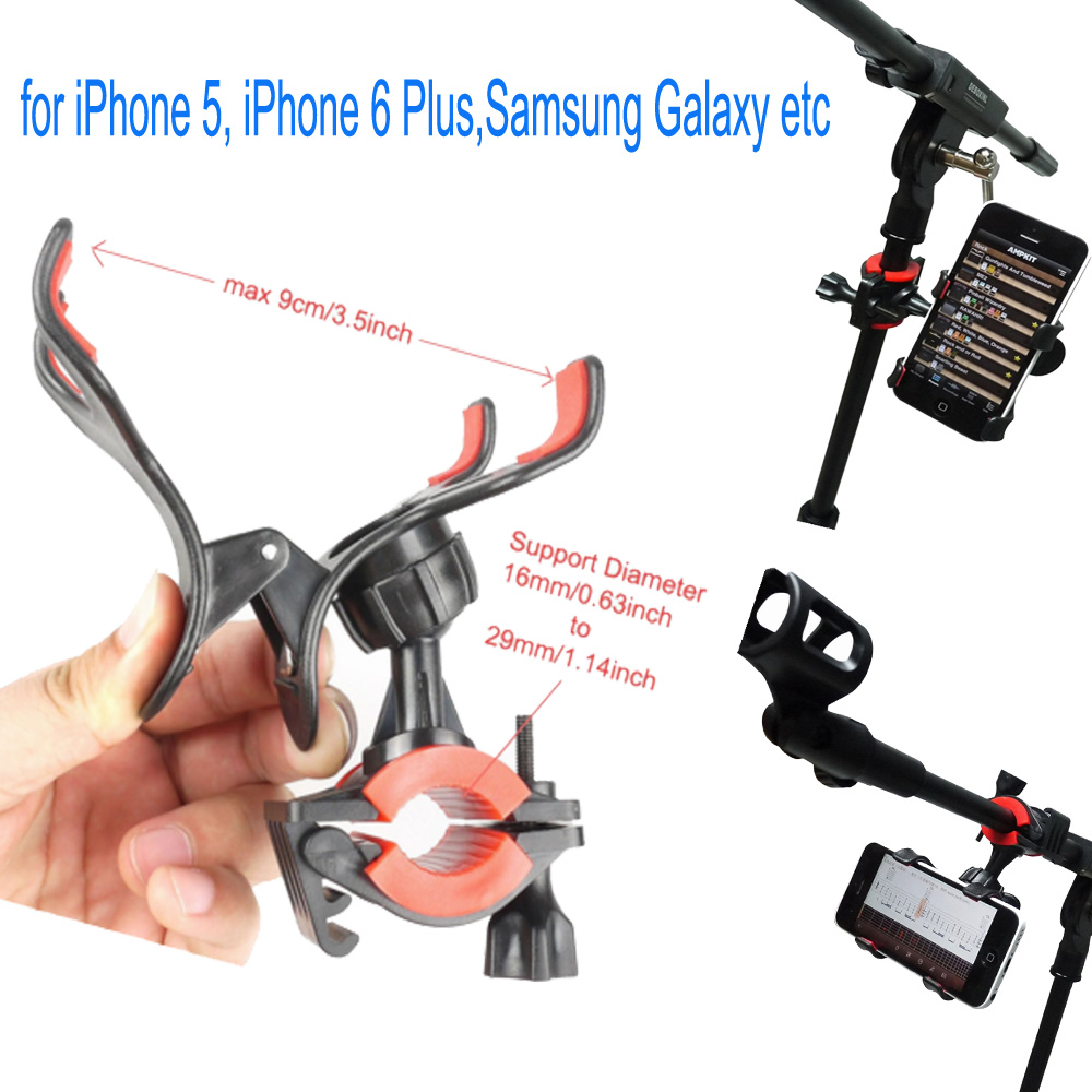 official photos 937b6 ee268 Universal Microphone Mic Stand Phone Holder Mount for iPhone Samsung ...