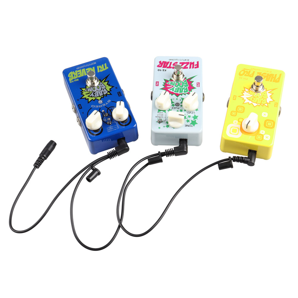 9v dc 1a au plug guitar pedal power supply adpater 3 way daisy chain cables ebay. Black Bedroom Furniture Sets. Home Design Ideas