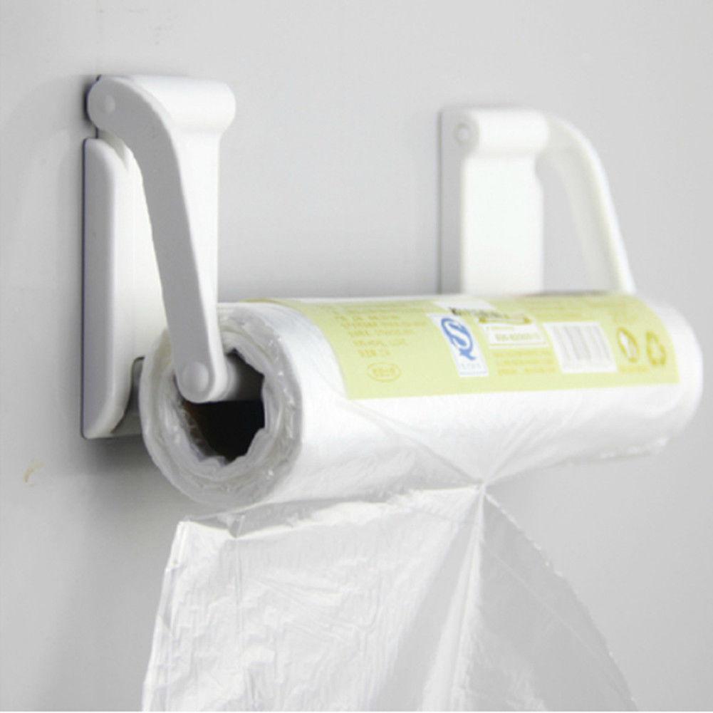 plastic magnetic paper towel roll holder towel rack dispenser kitchen bathroom 192543745842 ebay. Black Bedroom Furniture Sets. Home Design Ideas