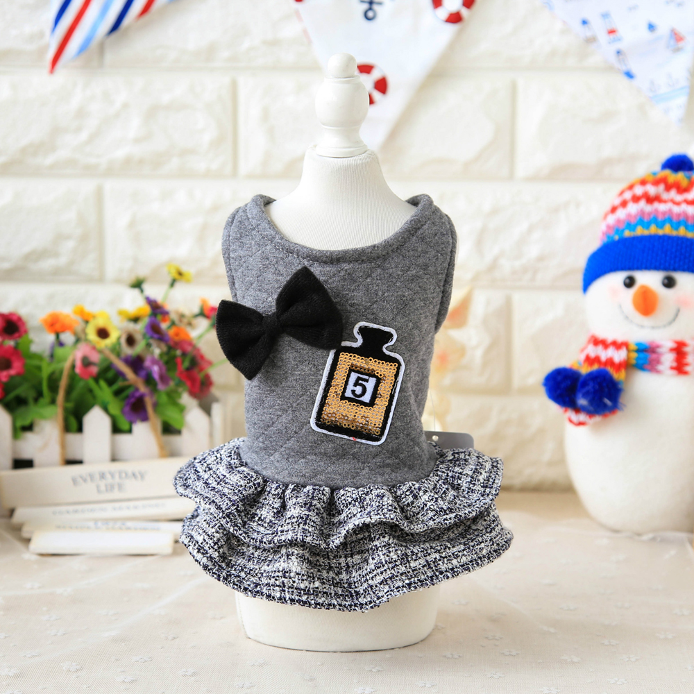 Cute Dog Dress Skirt Small Pets Clothes Chihuahua Puppy Cat Apparel Poodle Coat