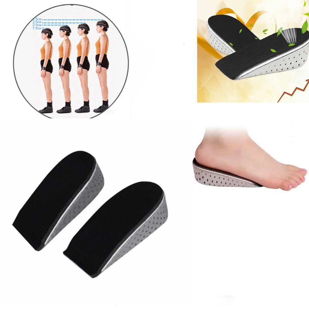 1.5cm Height Lifts Taller Lifts Shoe Insoles Breathable for Men and Women