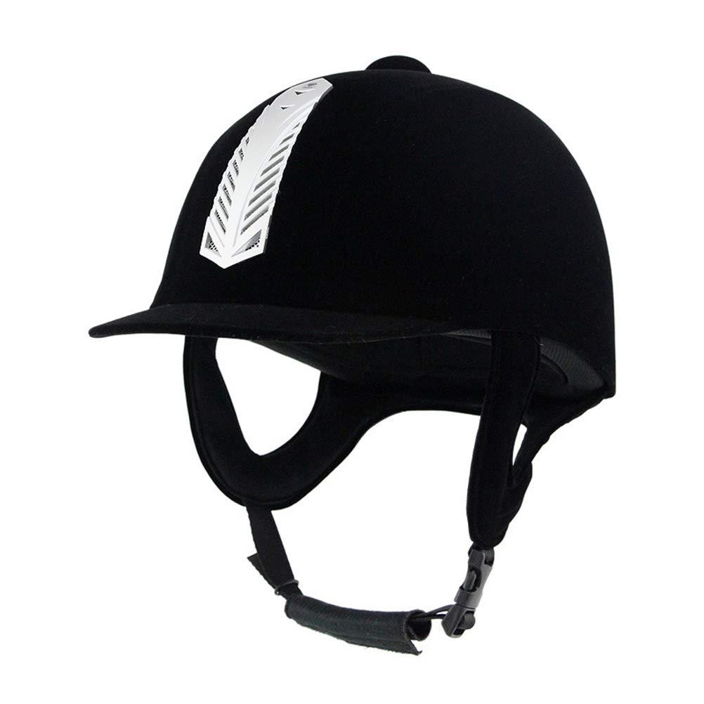 Adult Horse Riding Helmet Velvet Equestrian Safety Hat Protective Helmet Cap UK