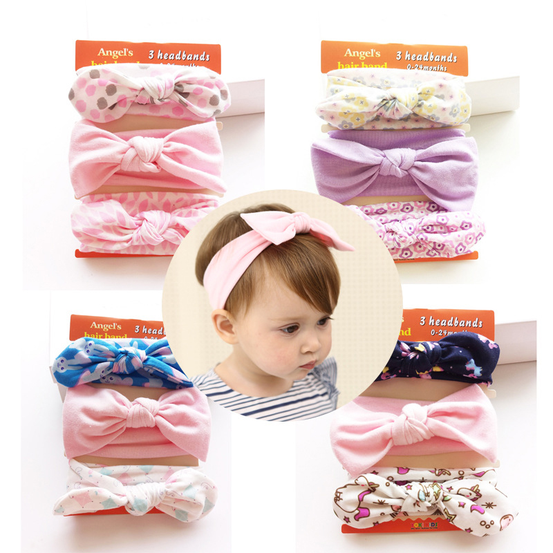 Pink Baby Girls Handmade Elacstic Headband Turban One Size