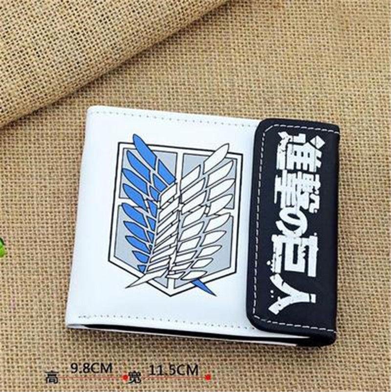 Anime-Fairy-Tail-One-Piece-Attack-On-Titan-Unisex-Card-Holder-Purse-Wallet