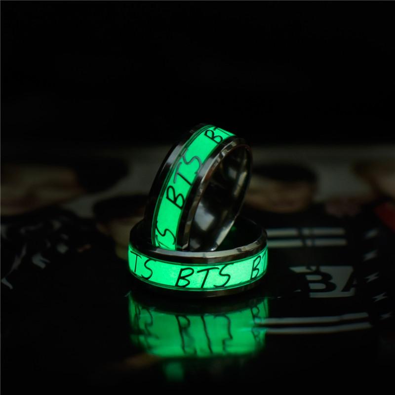 Fanstown Kpop BTS Bangtan Boys Finger Ring Member Name Letters Modelling Ring BTS