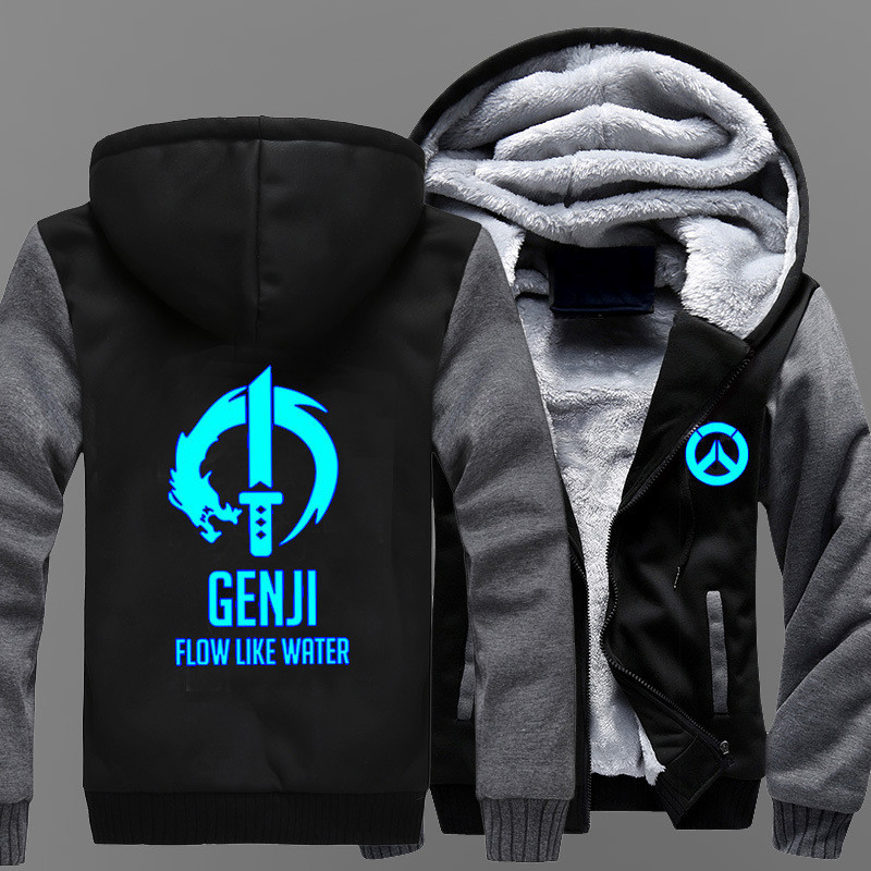 Lucio Overwatch Hot Game Long Hooded Zipper Sleeves Coat Unisex Cosplay Gift