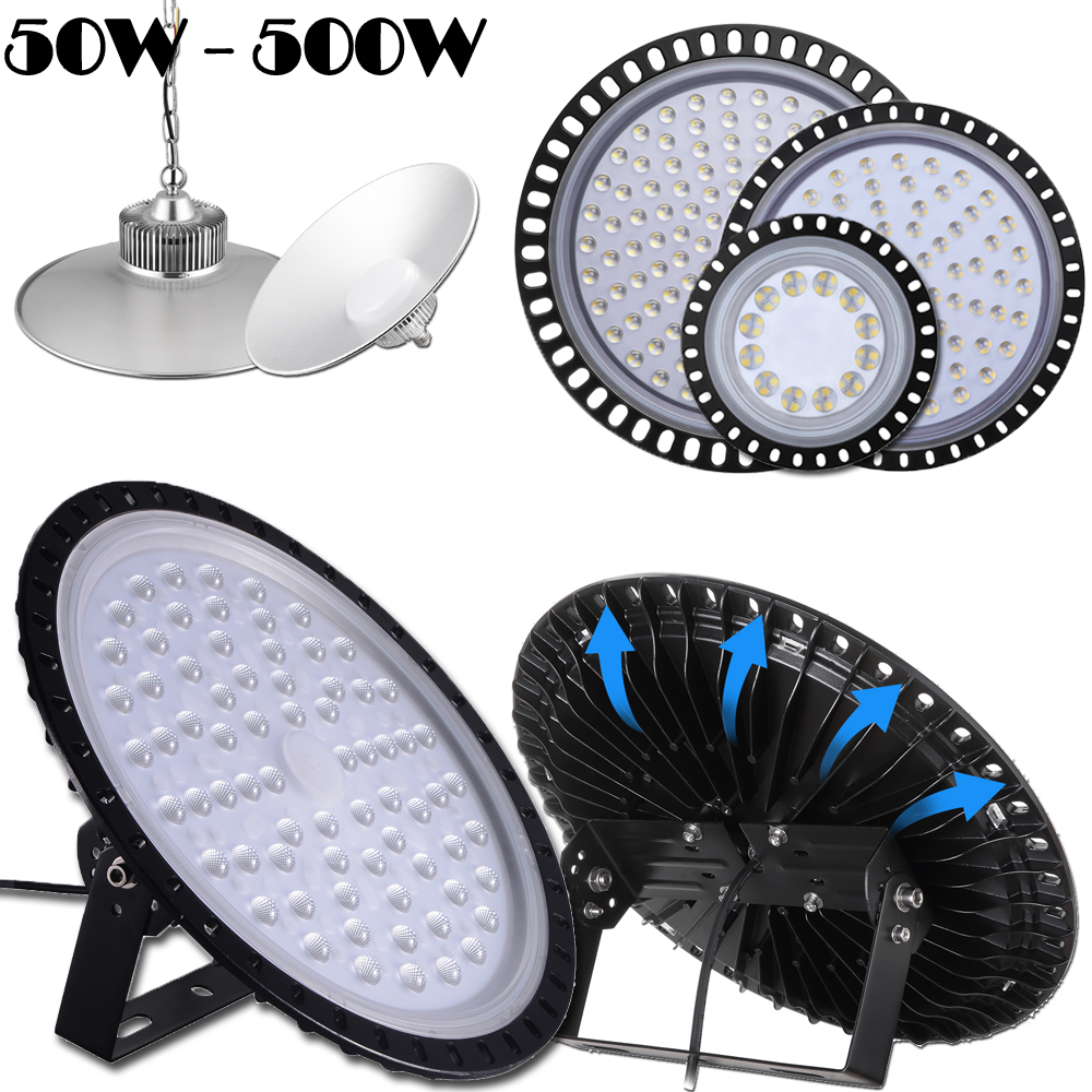 LED High Bay Light UFO 300W 200W 100Watts Warehouse GYM Fixture Outdoor Lighting