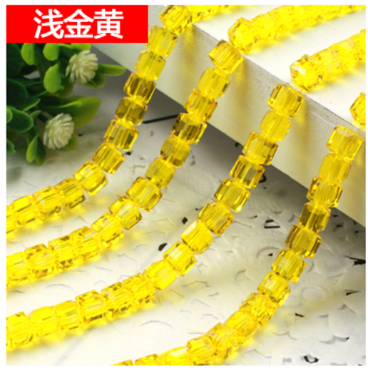 Beads Findings Loose 6mm Loose Glass Spacer Cube Wholesale Square 150pcs Crystal