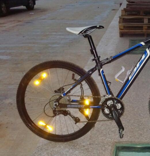 Bicycle Bike MTB Safety Caution Warning Reflector Disc Rear Pannier Racks ☆