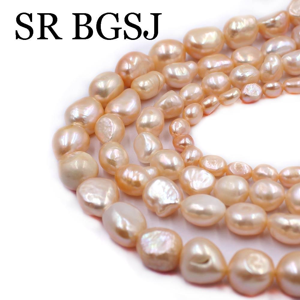 "Jewelry DIY Long Potato Purple Cultured Freshwater Pearl Beads Strand 15/"""