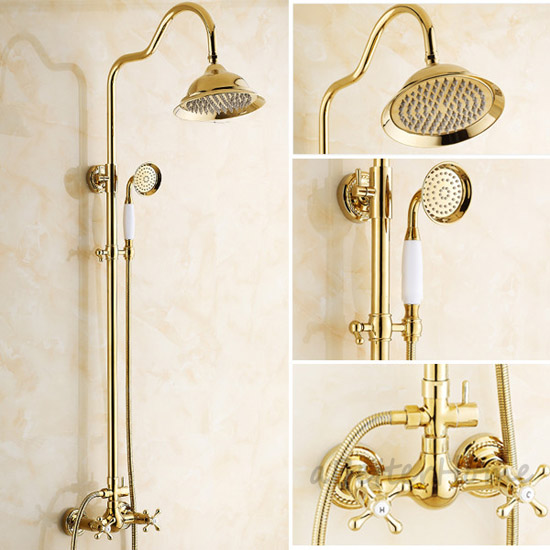 Bathroom Rainfall Shower Faucet Round