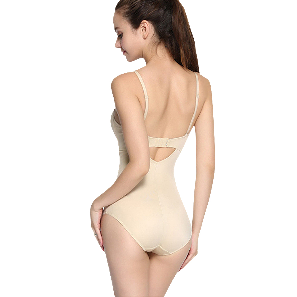 318c80134f New Sexy Backless Full Body Shapers Thong Convertible Bra Deep Plunge  Bodysuit