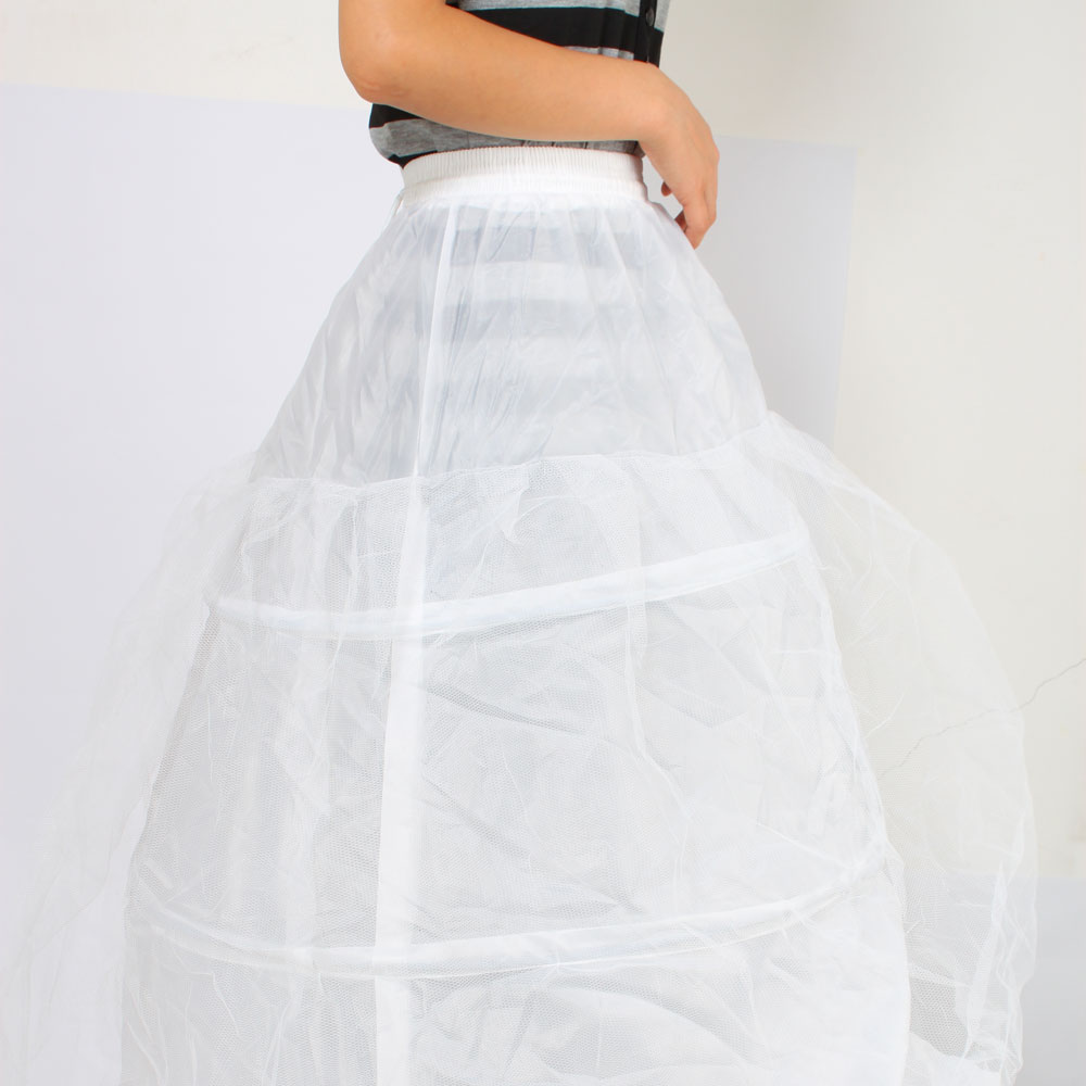 White 3 Hoop 6 Hoop Wedding Dress Ball Gown Crinoline Petticoat ...