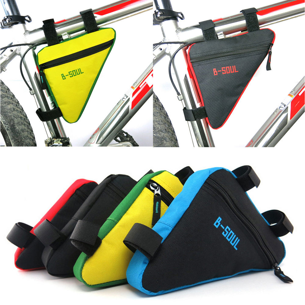 Cycling Bike Tube Bicycle Front Frame Triangle Bag Pouch Holder Saddle Storage
