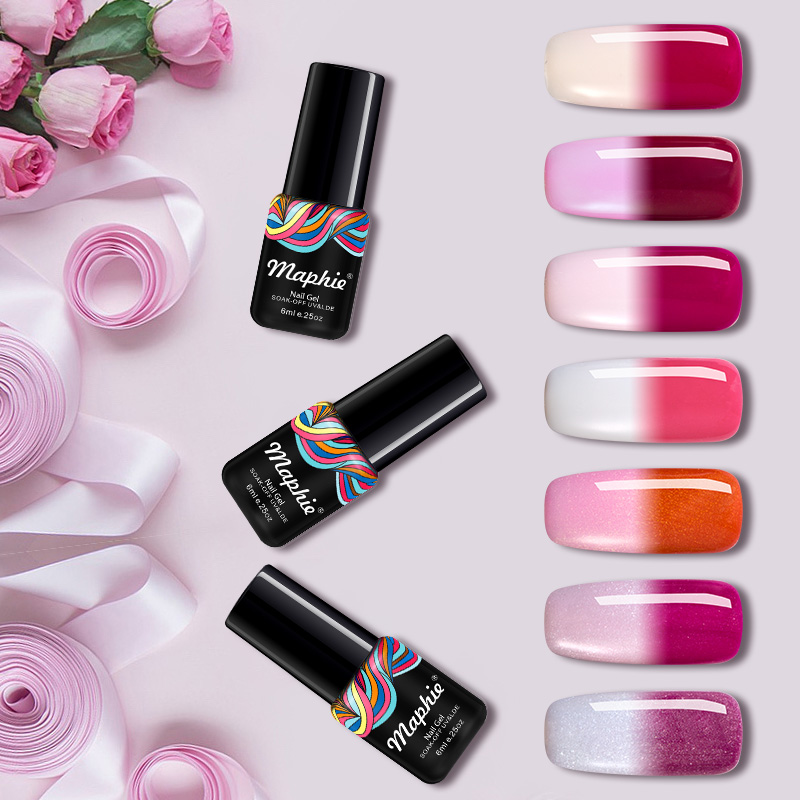 Maphie 6ml Nail Gel Polish Lucky Thermo Mood Color Change Nail Salon ...