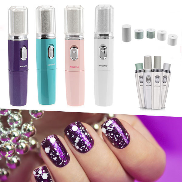 Woman Electric Manicure Nail Grinder Polisher Callus Pedicure UV Gel ...