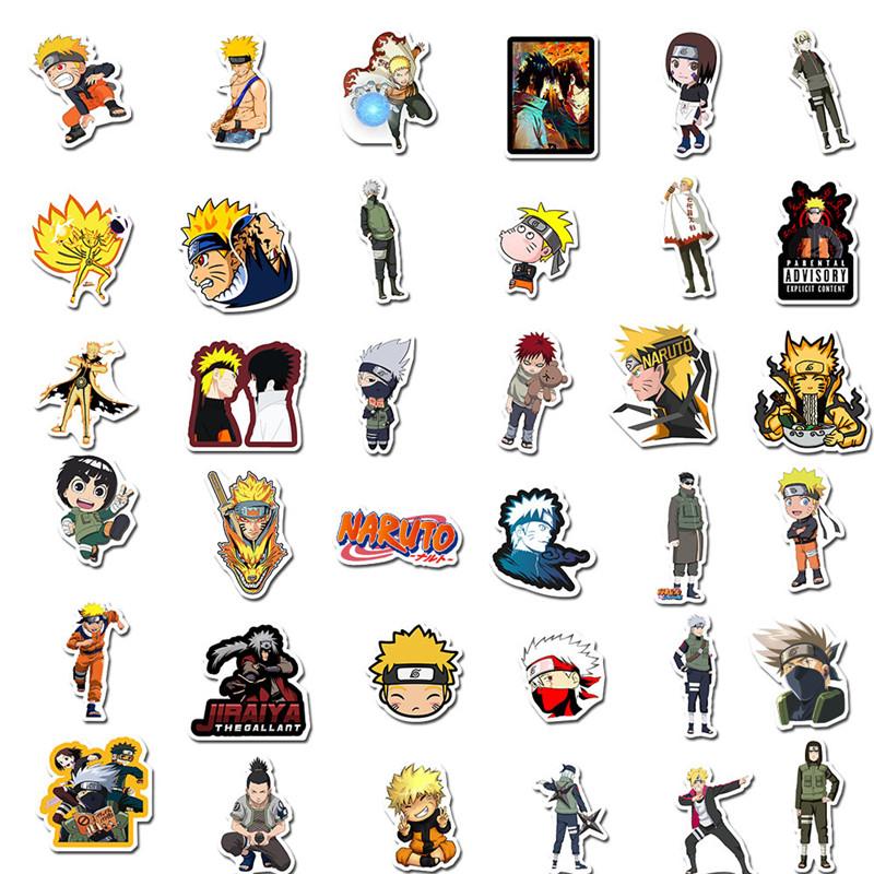 100pcs anime gaara rock deidara stickers for notebook
