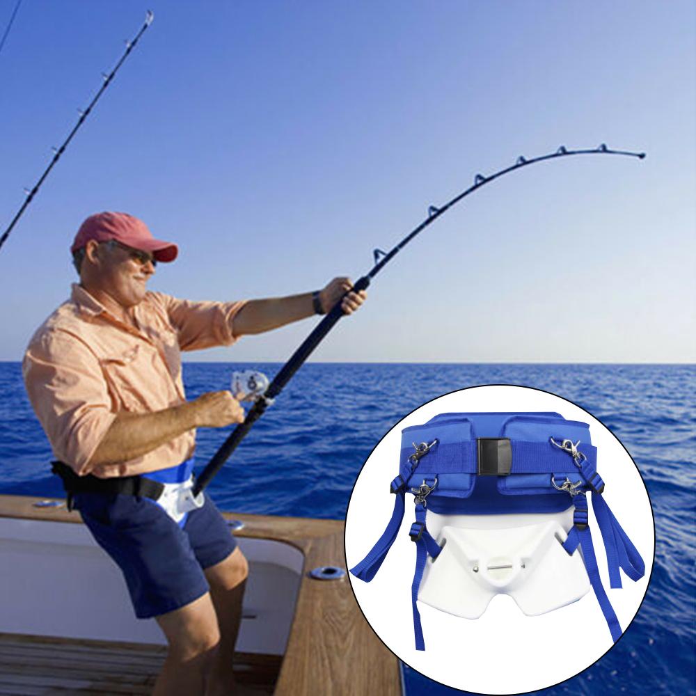 Fishing Stand Up Waist Gimbal Fighting Belt Rod Holder Big Tackle Jigging Game