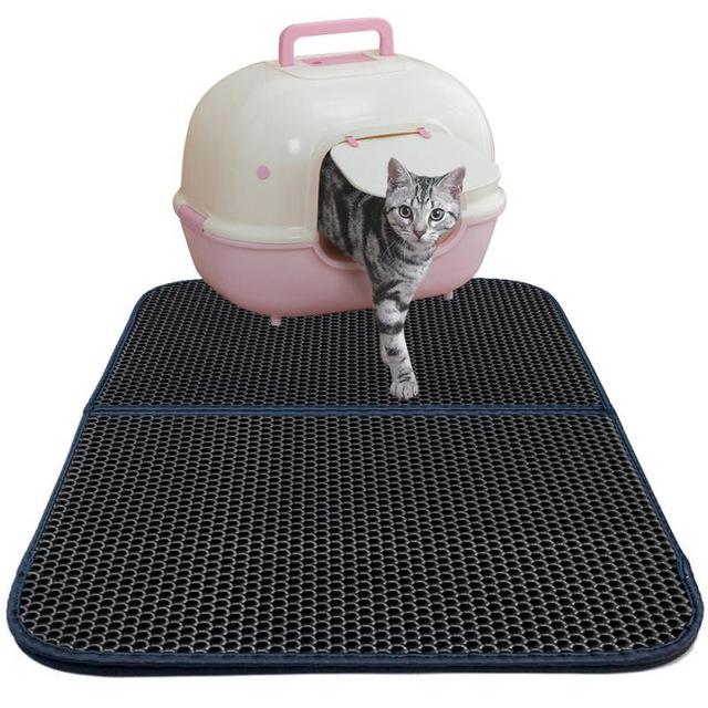 Cat Pet Litter Mat Trapper Catcher Scatter Food Pad Rug