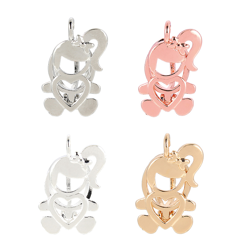 5Pc Silver Plated Car Shape Pearl Beads Cage Pendant DIY Necklace Jewelry Making