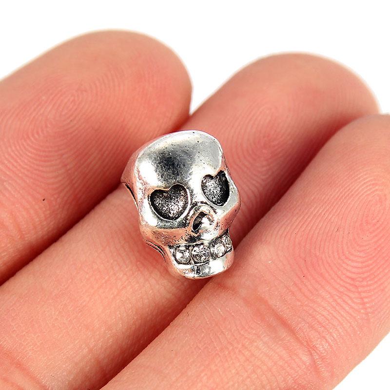 10PC Skeleton Hand Charm Pendant Tibetan Silver Beads Fit DIY Jewelry Making