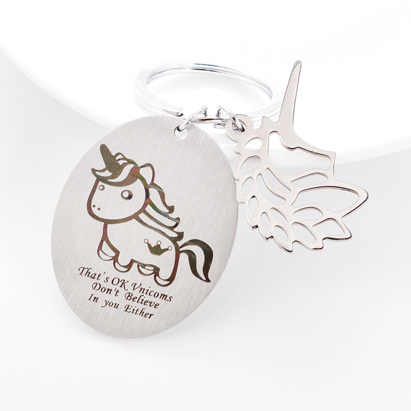 Details about Women s Cute Unicorn Lucky Gifts Key Rings Silver Tone Keychain  Keyring 6a569e0e2