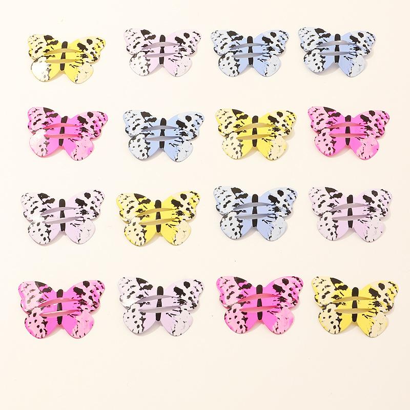 2X baby girls kids Cute butterfly hairpin hair clip bobby hair barrette Accessor