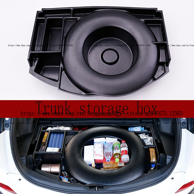 ABS Cargo Cover Liner Trunk Tray storage box Black Fit for
