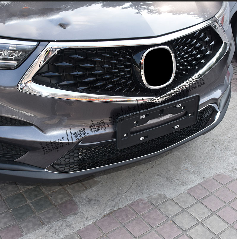 Stainless Steel Front Bumper Lip Cover Decor Trim For