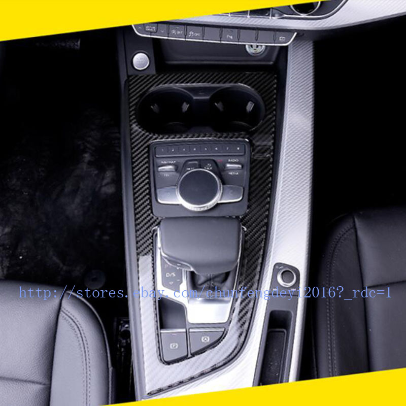Stainless Gear Position Panel Decorative Cover Trim 1pcs for Audi A4 A4L 2017