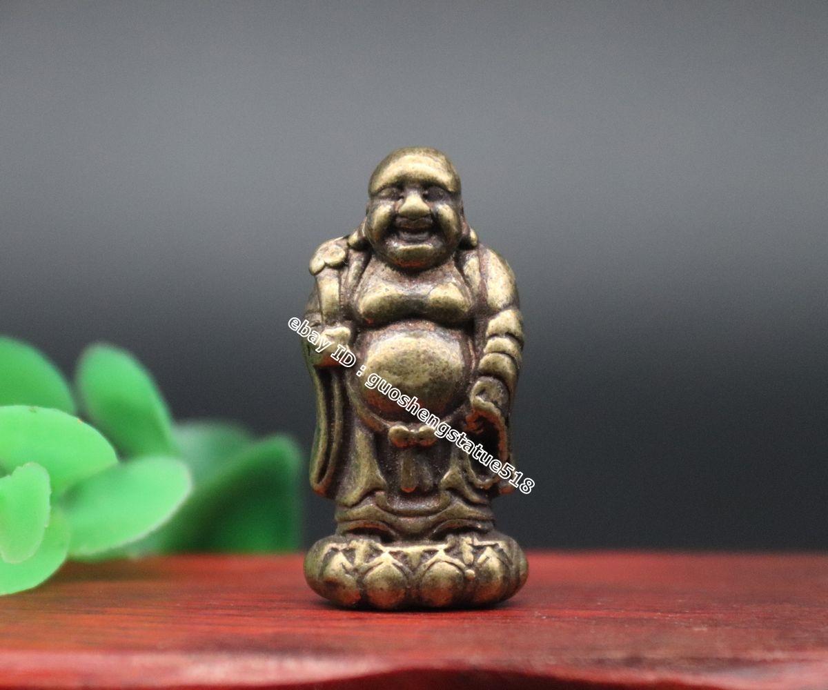 Chinese Pure brass maitreya Buddha small pendant