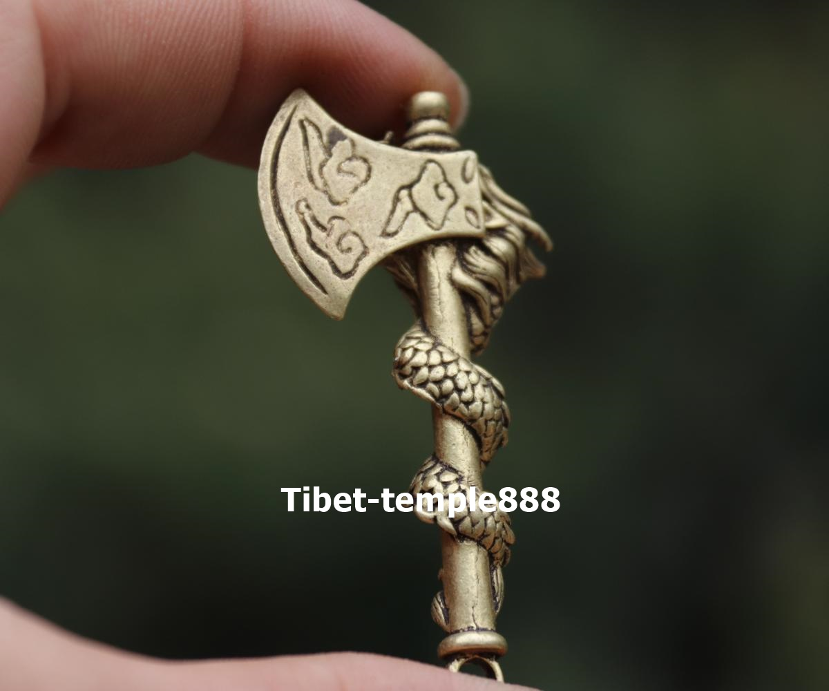 4.5 CM China Pure Bronze mouse axe Counteract Evil Force Animal Amulet Pendant