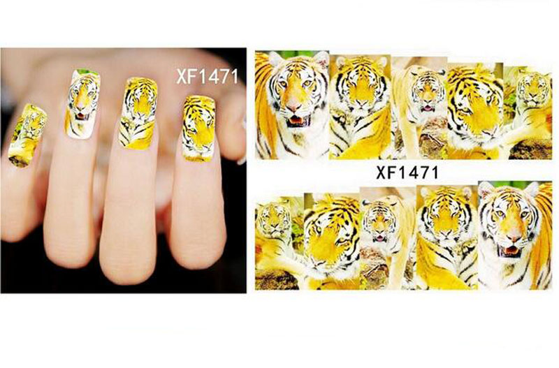 Flower Animal Water Decals Nail Art Transfer Stickers Manicure ...