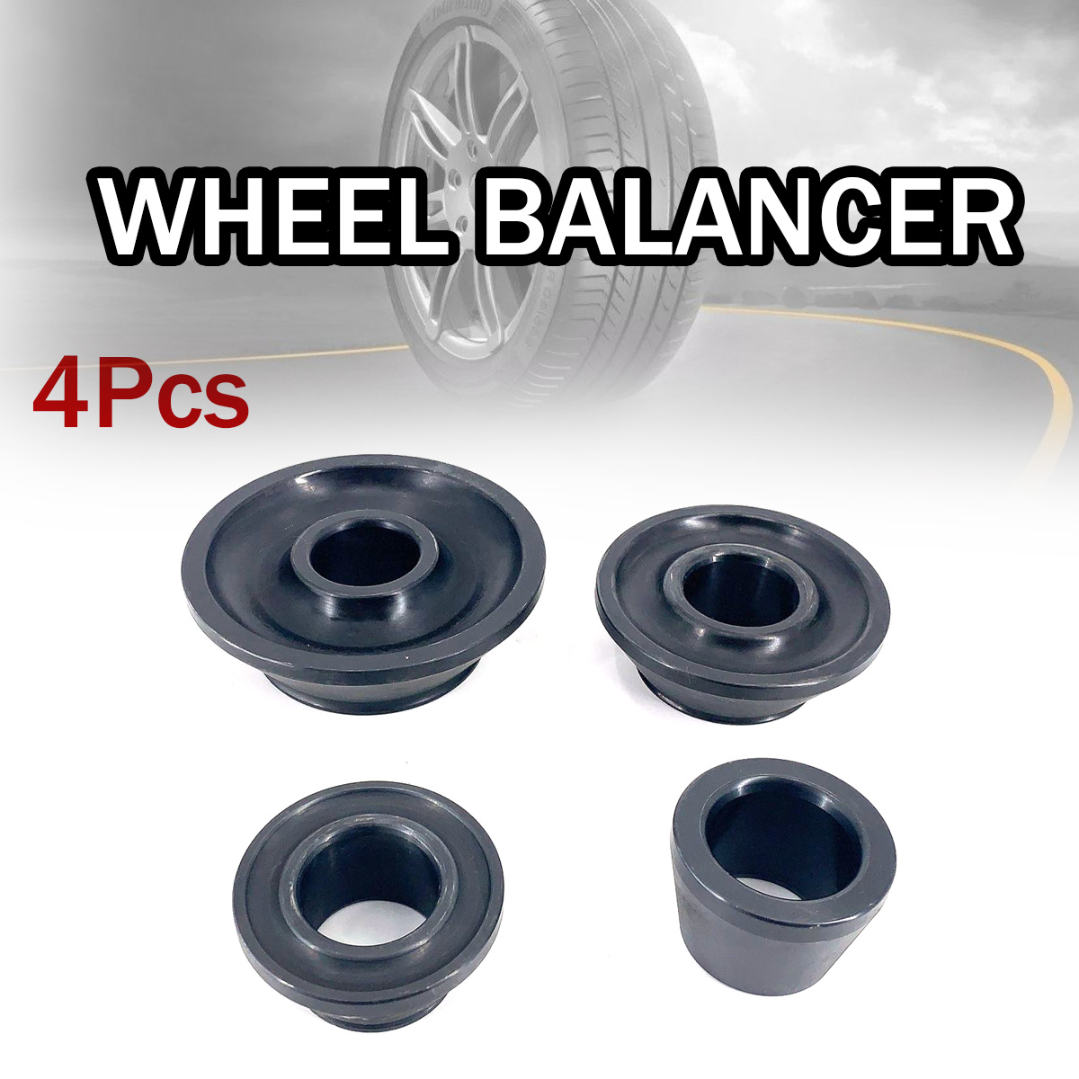 4pcs Wheel Balancer Standard Taper Cone Kit 40mm Shaft Accuturn Coats Taper Cone