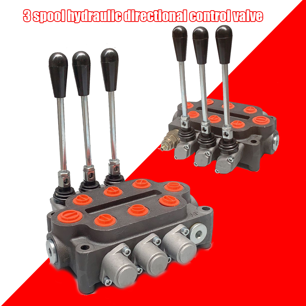 Details about Hydraulic Directional Control Valve 3 Spool Tractor Loader  25GPM Ports Acting