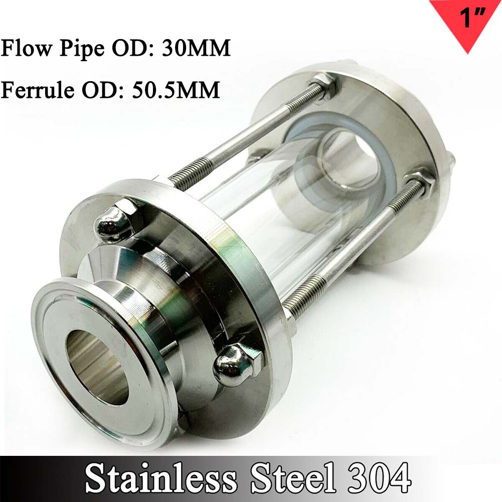 """2/"""" Sanitary Sight Glass in-Line Sight Glass with Clamp End Stainless Steel 304"""