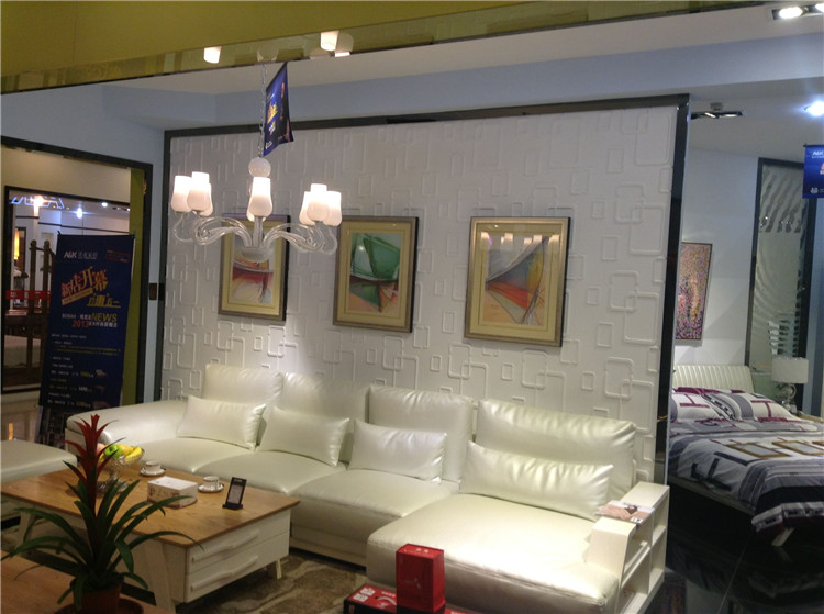 12-60 pcs 3D Wall Panel DIY Home Decor Wallpaper Background Decal Buckles Design