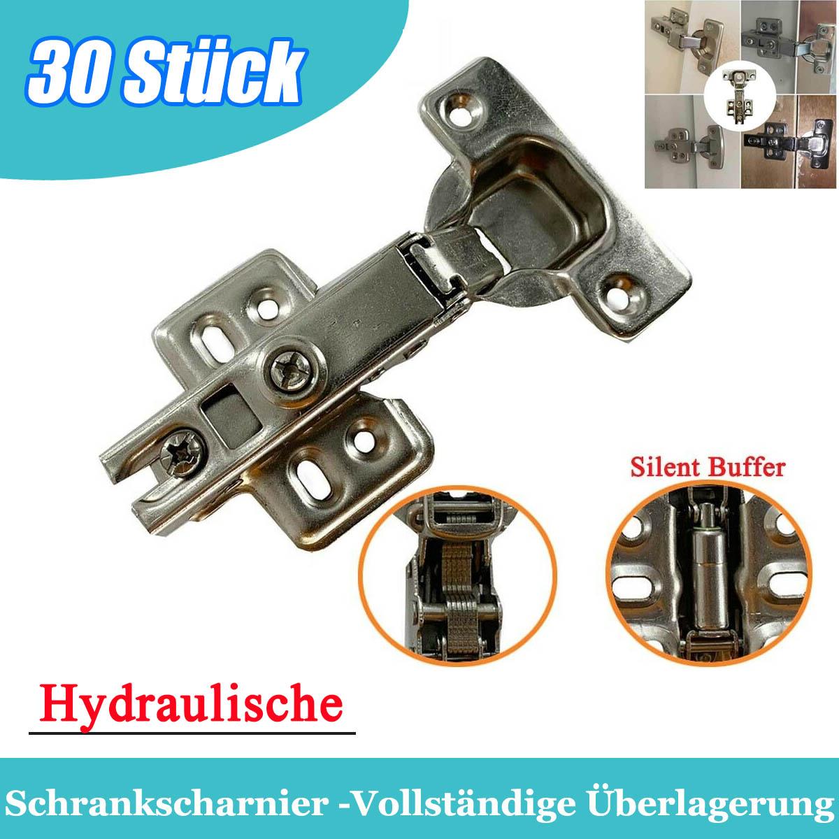 Kabinettscharniertür Hydraulische Küchenschrank Einlegen-EinbettenDämpfer30Stück