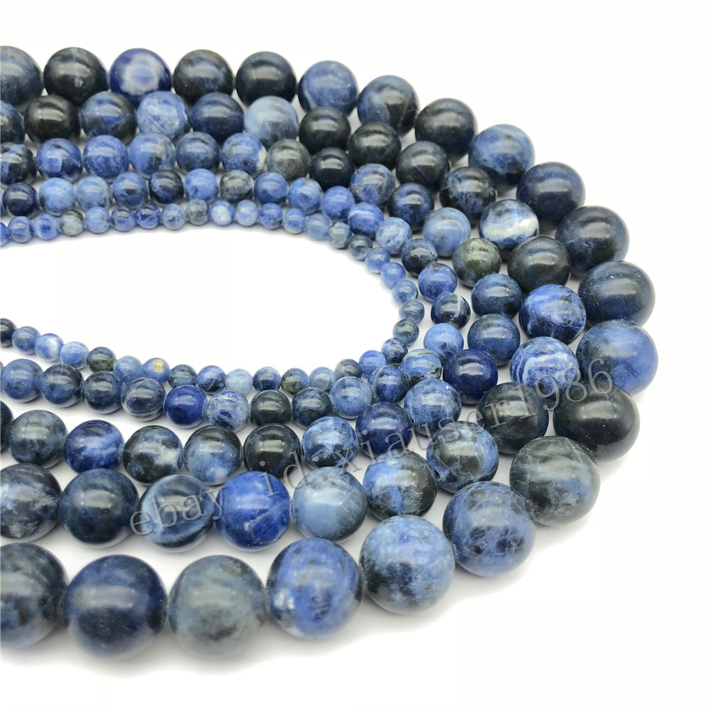 Natural Stone Wholesale Blue Amazon Round Beads 4 6 8 10mm For Jewelry Making