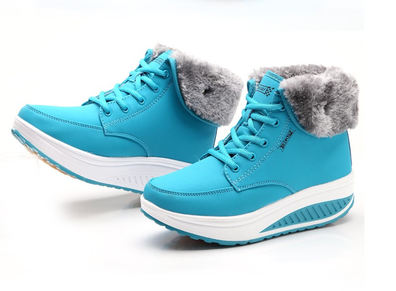 ed1c1bf5fc3 Details about Womens Winter Warm Ankle Flat Snow Boots Platform Ugly Boots  High Wedges Shoes