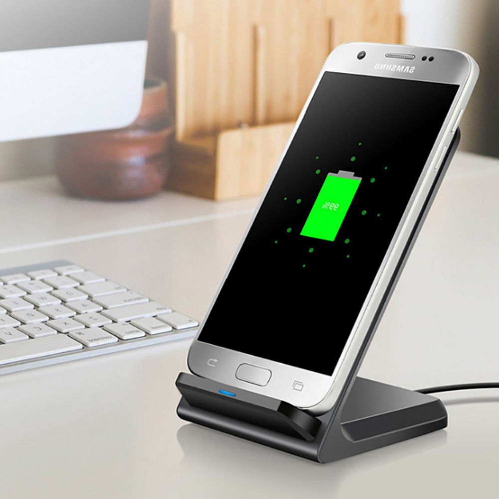 usa fdgao qi wireless charger slim 10w fast charging stand. Black Bedroom Furniture Sets. Home Design Ideas